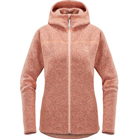 Haglöfs Swook Chaqueta con capucha Mujer, cloudy pink